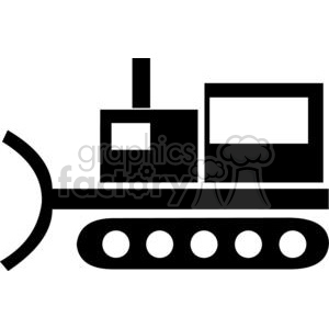 Bulldozer Silhouettes clipart. Commercial use image # 379685