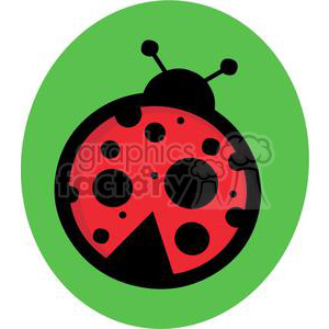 Ladybug in green circle clipart. Royalty-free image # 379690