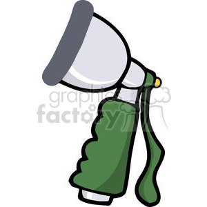 Garden hose spray attachment clipart. Royalty-free image # 379695