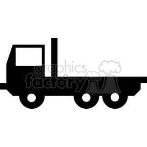 cartoon funny comical vector vehicle truck black+white vinyl-ready transportation silhouette