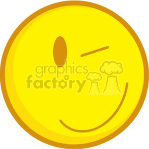 Winked Emoticon clipart. Commercial use image # 379740
