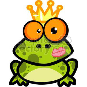 2672-Royalty-Free-Frog-Prince clipart. Royalty-free image # 379755