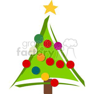Royalty-Free Christmas Tree clipart. Royalty-free image # 379775