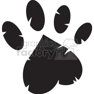 cartoon funny comical vector paw print paws