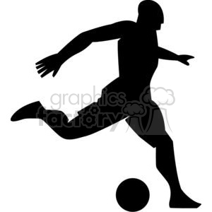 2531-Royalty-Free-Silhouette-Soccer-Player-With-Ball clipart. Royalty-free image # 379840