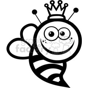 black and white queen bee clipart. Royalty-free icon # 379850