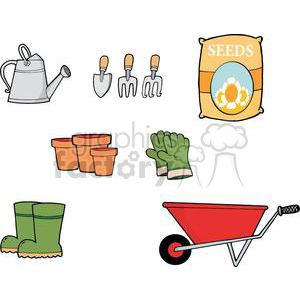 Gardening Tool Set clipart. Commercial use image # 379860