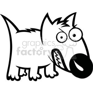 cute feisty cartoon dog clipart. Royalty-free image # 379890