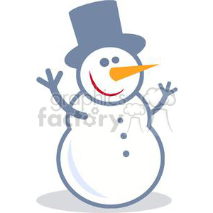 Happy Snow man clipart. Commercial use image # 379900