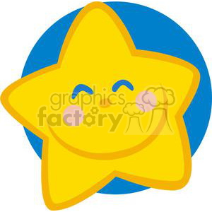 Smiling star clipart. Commercial use image # 379905