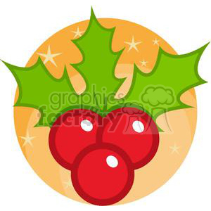 2363-Royalty-Free-Christmas-Holly clipart. Royalty-free image # 379910