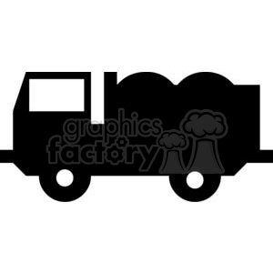 cartoon funny comical vector vehicle truck black+white vinyl-ready transportation