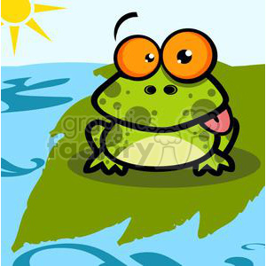 2652-Royalty-Free-Frog-Sticking-Out-His-Tongue clipart. Commercial use image # 379935
