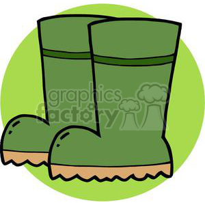 2415-Royalty-Free-Gardening-Tool-Boots clipart. Commercial use image # 379940