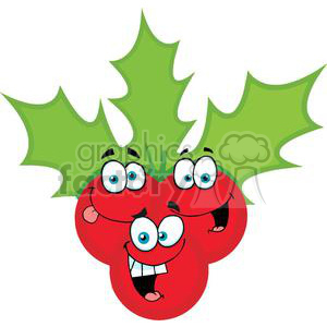 2364-Royalty-Free-Christmas-Holly clipart. Royalty-free image # 379945