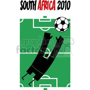 2525-Royalty-Free-Abstract-Soccer-Player-With-Balll-In-Front-Of-Stadium-Text clipart. Commercial use image # 379950