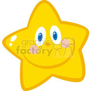 yellow smiling star clipart. Commercial use image # 379960