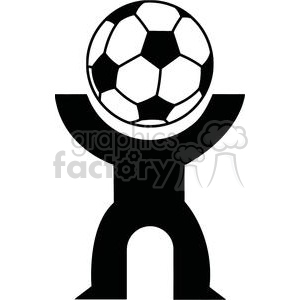 2521-Royalty-Free-Abstract-Silhouette-Soccer-Player-With-Balll clipart. Commercial use icon # 379965