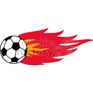 2555-Royalty-Free-Flaming-Soccer-Ball clipart. Commercial use image # 379985