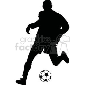 2538-Royalty-Free-Silhouette-Soccer-Player-With-Ball clipart. Royalty-free image # 379990