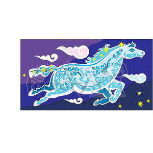 dream horse clipart. Commercial use image # 380032