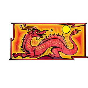 red Chinese dragon clipart. Royalty-free image # 380037