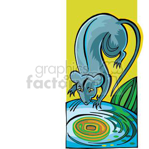 rat drinking water clipart. Royalty-free image # 380047