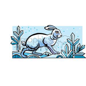 winter rabbit clipart. Royalty-free image # 380052