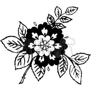 82-flowers-bw clipart. Royalty-free image # 380067