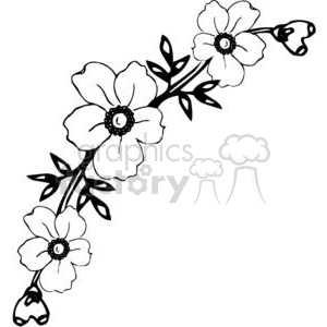 90-flowers-bw clipart. Commercial use image # 380072
