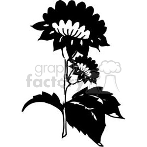 80-flowers-bw clipart. Commercial use image # 380087