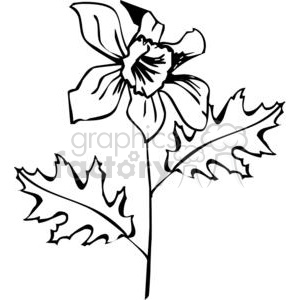 96-flowers-bw clipart. Commercial use image # 380102