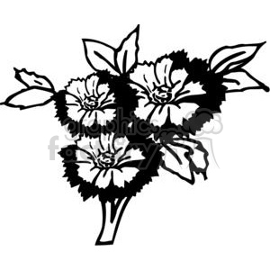 89-flowers-bw clipart. Commercial use image # 380117