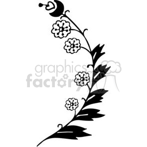 95-flowers-bw clipart. Commercial use image # 380142