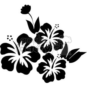 vinyl+ready vector black+white flower flowers floral nature organic design designs elements hibiscus svg+files cut+files hibiscus+svg