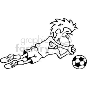 cartoon black white soccer goalkeeper cartoon player goal