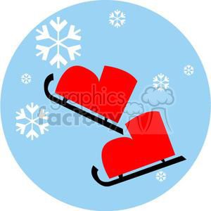 red ice skates clipart. Commercial use image # 381020