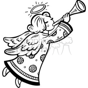 Christmas angel clipart. Commercial use image # 381107