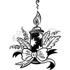 Christmas candle clipart. Royalty-free image # 381132