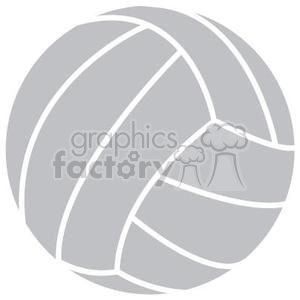grey volleyball clipart. Commercial use image # 381191