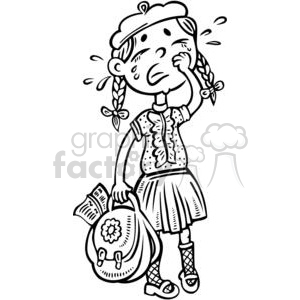 whining girl clipart. Commercial use image # 381533