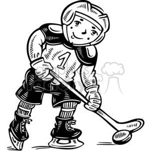 child hockey player clipart. Commercial use image # 381573