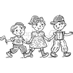 children celebrating clipart. Royalty-free image # 381588