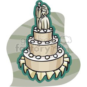 3 layer wedding cake clipart. Royalty-free image # 146107