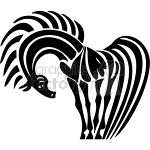 cool horse art clipart. Royalty-free image # 383635