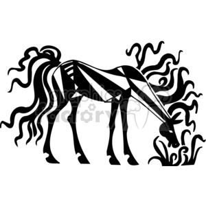 creative horse eating clipart. Royalty-free image # 383640