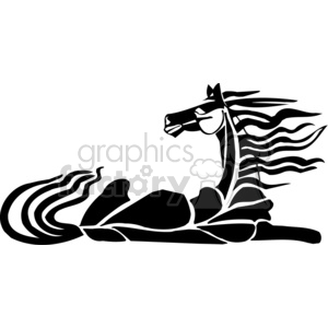 resting horse design clipart. Commercial use image # 383650