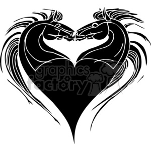 love horse design clipart. Commercial use image # 383655
