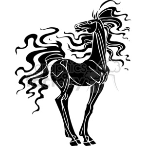 awesome horse design clipart. Royalty-free image # 383665