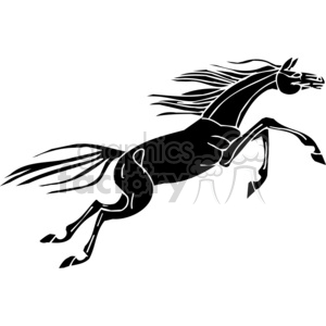 jumping horse clipart. Commercial use image # 383680